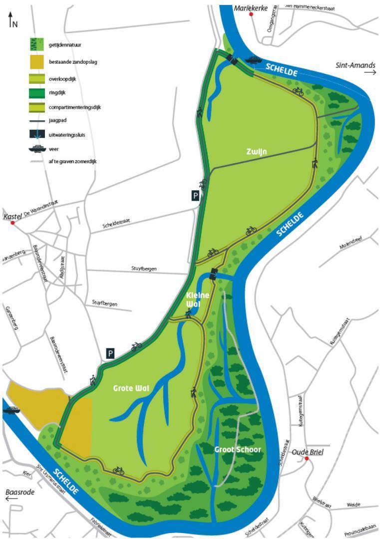 Kaartje Sigmaplan project Wal-Zwijn