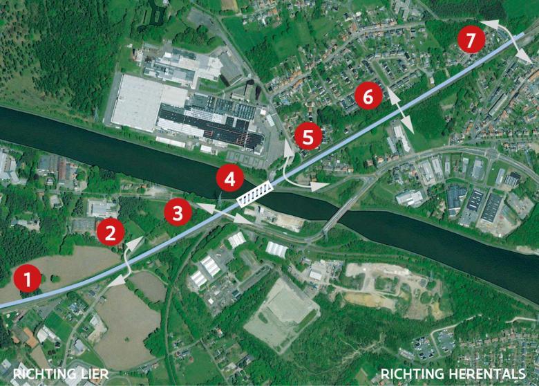 Werken spoorbrug Herentals