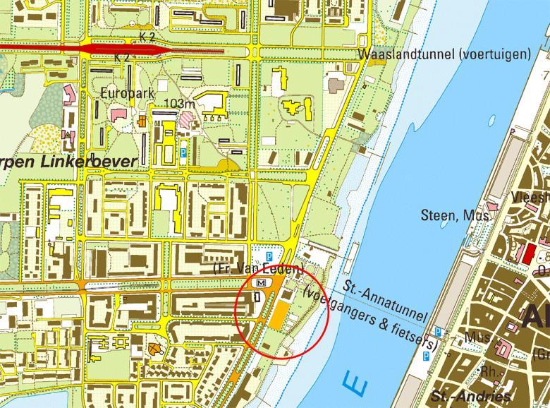 Liggingsplan terrein minigolf Antwerpen