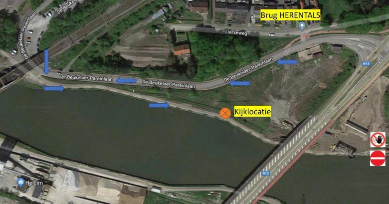 plan kijklocatie bij afbraak oude brug