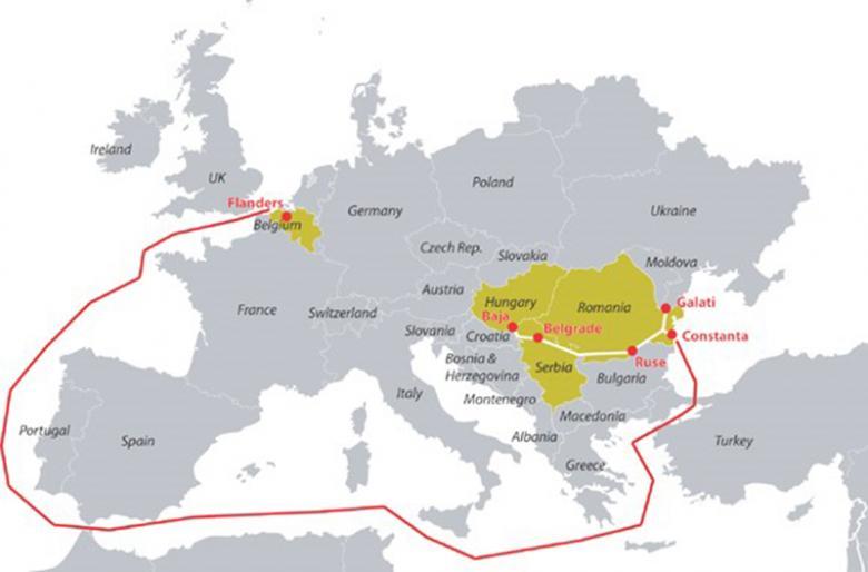 Kaart verbinding ILDE-project