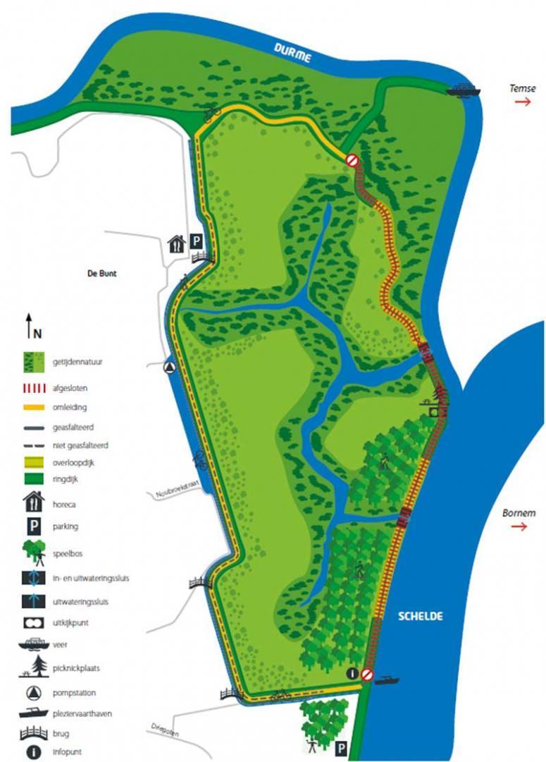 Plan overstromingsgebied De Bunt in Hamme