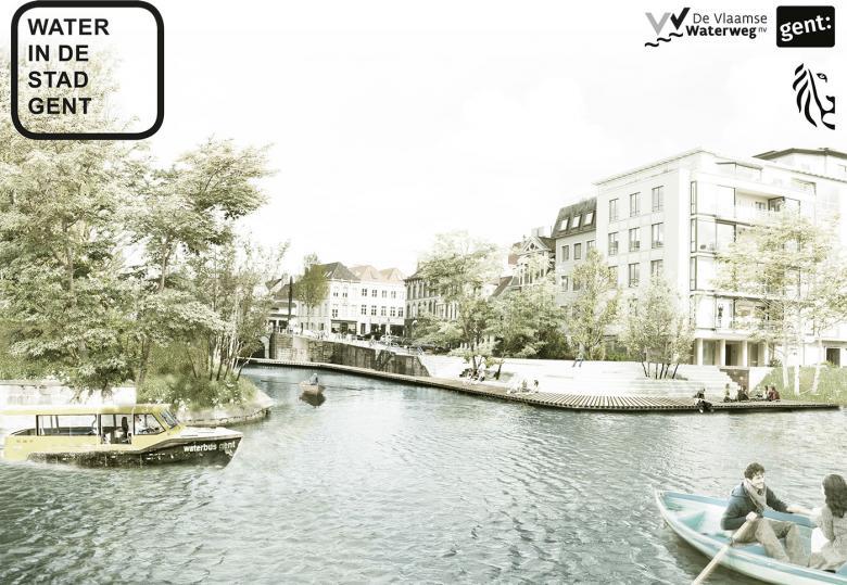 Visualisatie Water in de stad - Gent