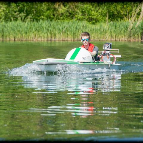 Navex E-boat team KU Leuven Ecorace Challenge 2017