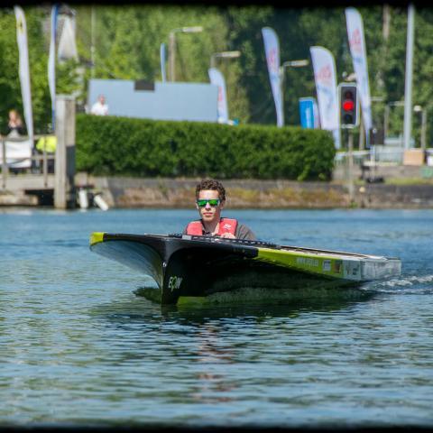Solar boat Universiteit Antwerpen Ecorace Challenge 2017